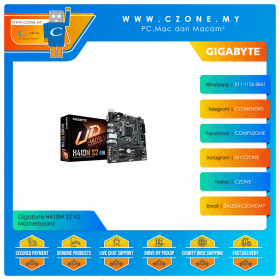 Gigabyte H410M S2 V2 Motherboard (Chipset H410, mATX, Socket 1200)