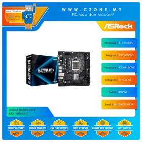 Asrock H470M-HDV Motherboard (Chipset H470, mATX, Socket 1200)