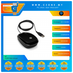 HP X1200 Wire Mouse (Black)