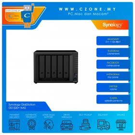 Synology DiskStation DS1520+ NAS (5-bay, QC 2.0GHz, 8GB, GbE x4, Diskless)