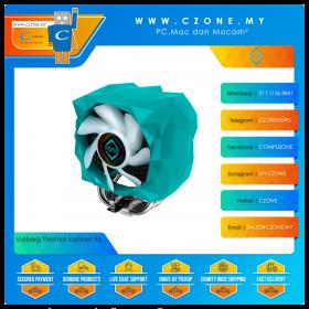 Iceberg Thermal IceSleet X6 CPU Air Cooler (AMD, Intel, 1x 120mm Fan, ARGB, Teal Green)