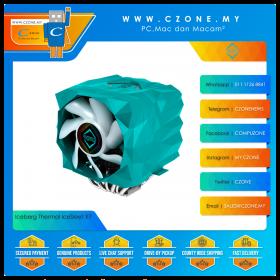 Iceberg Thermal IceSleet X7 CPU Air Cooler (AMD, Intel, 1x 120mm Fan, 1x 140mm Fan ARGB, Teal Green)