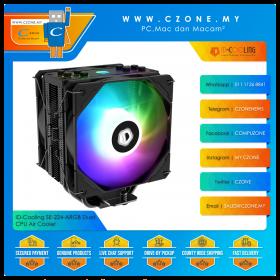 ID-Cooling SE-224-ARGB Duet CPU Air Cooler (AMD, Intel, 1x 120mm Fan, ARGB)