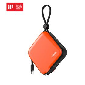 Idmix Mr Charger 10,000 Integrated Type-C Cable 10,000mAh Power Bank + Wall Charger