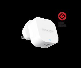Innergie 45 Watts USB-C Power Adapter (1 xUSB, 1 xUSB-C PD, White)
