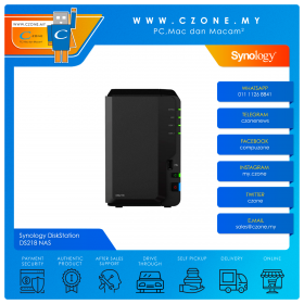 Synology DiskStation DS218 NAS (2-bay, QC 1.4GHz, 2GB, GbE x1, Diskless)