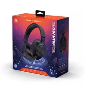 JBL Quantum 200 Over-Ear Wired Gaming Headset (Black)