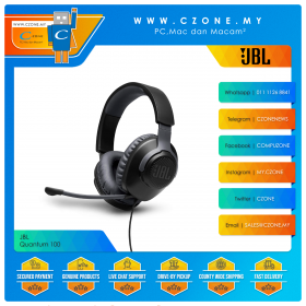 JBL Quantum 100 Over-Ear Wired Gamine Headset