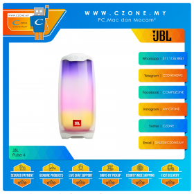 JBL Pulse 4 Portable Bluetooth Speaker (White)