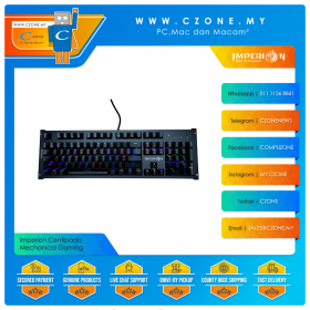 Imperion Centipada Mechanical Gaming Keyboard (Kailh Blue Switch, Black)