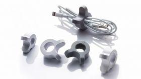 LeadTrend A-Clip Cable Organiser (Grey, Dark Grey)