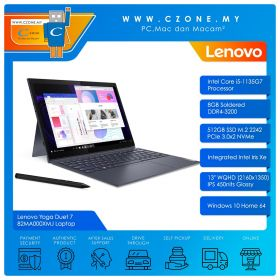 """Lenovo Yoga Duet 7 82MA000XMJ Laptop - 13"""", i5-1135G7, 2.4GHz, 8GB, 512GB SSD, Iris XE, Win 10 (Slate Grey)"""