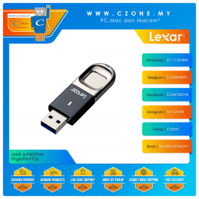 Lexar JumpDrive FingerPrint F35 32GB USB 3.0 Flash Drive