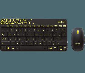 Logitech MK240 Nano Wireless Keyboard And Mouse (Yellow)