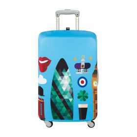 """Loqi Hey Luggage Cover S (19"""" - 22"""", London)"""