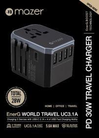 Mazer EnerG World Travel Uc 3.1A