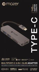 Mazer USB-C 5-in-1 Multimedia Hub