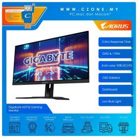 """Gigabyte M27Q Gaming Monitor (27"""", 2560x1440, IPS, 170Hz, 0.5ms, HDMI x 2, DP, USB x 2, KVM, VESA)"""