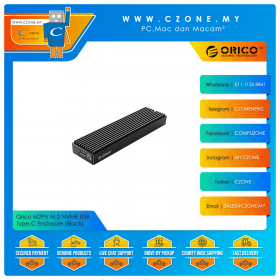 Orico M2PV M.2 NVME USB Type-C Enclosure (Black)