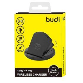 Budi CC228BK Wireless Charger (10 Watts, Base, Black)