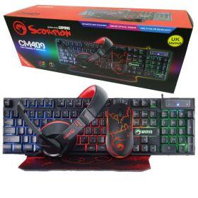 Marvo CM409 Gaming Starter Kit ( Keyboard, Mouse, Mouse Pad, Headset)