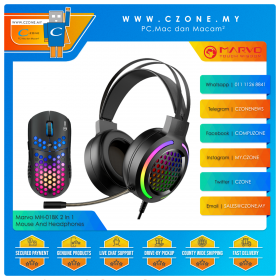 Marvo MH-01BK 2 In 1 Gaming Mouse And Headphones