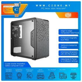 Cooler Master MasterBox Q300L Computer Case (mATX, Window, Black)