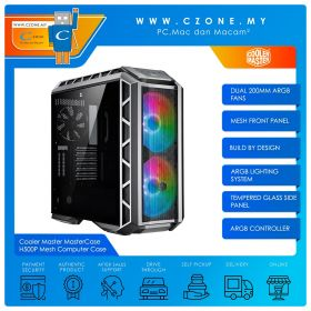 Cooler Master MasterCase H500P Mesh Computer Case (EATX, TG, Grey)