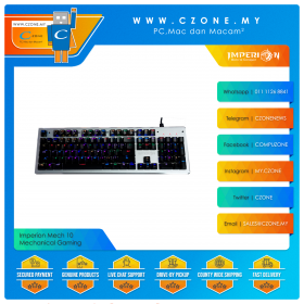 Imperion Mech 10 Mechanical Gaming Keyboard (Kailh Blue Switch, Silver)