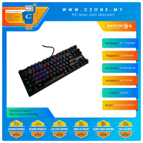 Imperion Mech 7 Mechanical Gaming Keyboard (Kailh Blue Switch, Black)