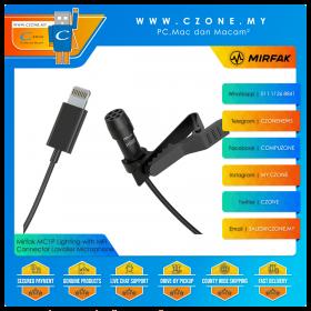 Mirfak MC1P Lighting with MFI Connector Lavalier Phone Microphone