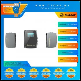 Mirfak WE10 Pro Dual Channel Compact Wireless Microphone
