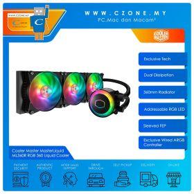 Cooler Master MasterLiquid ML360R RGB 360 AIO CPU Liquid Cooler (AMD, Intel, 3x 120mm Fan, ARGB)