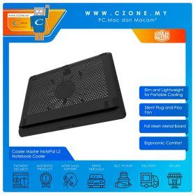 """Cooler Master NotePal L2 Notebook Cooler (Up to 17"""", Black)"""
