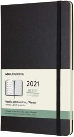 Moleskine 12 Months Weekly Large Hard Cover Notebook