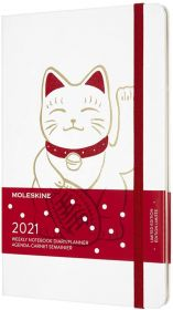 Moleskine 12 Months Weekly Large Hard Cover Notebook (Maneki Neko)