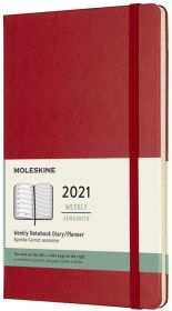 Moleskine 12 Months Weekly Large Hard Cover Notebook (Red)