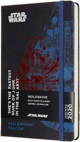 Moleskine Limited Edition 12M Star Wars Weekly Large Hard Cover Notebook (Falcon)