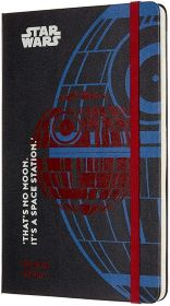 Moleskine Limited Edition 18M Star Wars Weekly Large Hard Cover Notebook (Death Star)