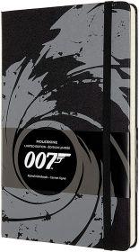 Moleskine Limited Edition James Bond Large Ruled Hard Cover Notebook (Black)