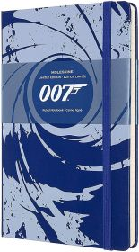 Moleskine Limited Edition James Bond Large Ruled Hard Cover Notebook (Blue)