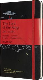 Moleskine Limited Edition Lord Of The Rings Large Ruled Hard Cover Notebook (Mt. Doom)