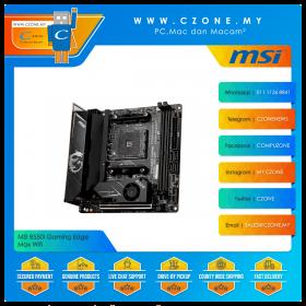 MSI B550I Gaming Edge Max Wifi Motherboard (Chipset B550, WiFi+BT, mini-ITX, Socket AM4)