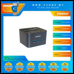 "Fideco MR115BK Dual Docking Station (Dual Dock 2.5""/3.5"", USB 3.0 Hub x 3)"