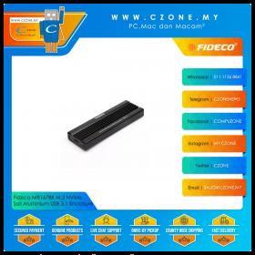 Fideco MR167BK M.2 NVMe Ssd Aluminium USB 3.1 Enclosure (Black)