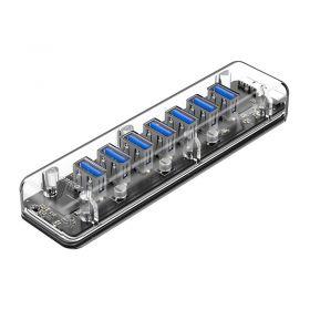 Orico F7U-U3 7 Port USB 3.0 Hub (Transparent)