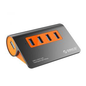 Orico M3H4-G2 4 Port USB3.1 Gen2 USB Hub (Aluminium, Black/Orange)