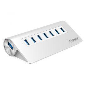 Orico M3H7-SV 7 Port USB 3.0 Hub Clip-type (Aluminum, Silver)