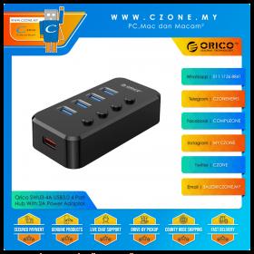 Orico SWU3-4A USB3.0 4 Port Hub With 2A Power Adaptor