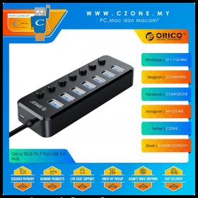 Orico TSU3-7A 7 Port USB 3.0 Hub (Black)